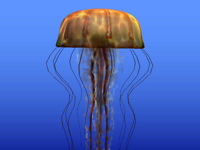 Jellyfish rendered with OpenGL on Panfrost